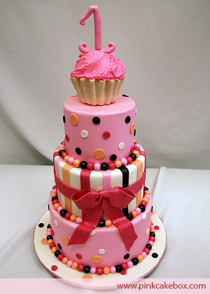 Pink Cake Box Birthday Cake